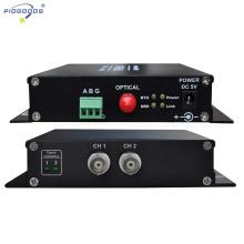 Transceptor video óptico da fibra do CCTV do controle 2CH supervisório