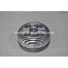Aluminio cilindro cnc mecanizado / precisión cnc mecanizado piezas de cilindro / cilindro de tapa de giro de piezas