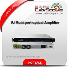 1/4/8 Portos EDFA 1550nm CATV Erbium Doped Fibra Óptica Amplificador / Multi-Port EDFA