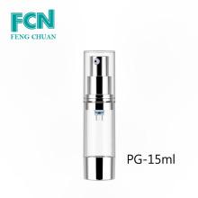 Bouteille de pompe sans air 30ml 50ml bouteille en plastique transparent cosmétique