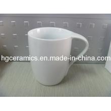 Bend Handle Taza de café, taza de porcelana