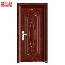 China Factory Photos Single Stahl Sicherheitstür Design
