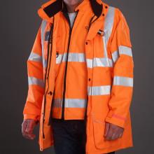 7 in 1 Reflective safety jacket parka