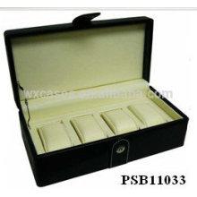 Новые прибытия кожа Смотреть Коробка для 4 часы Оптовая из Китая завода