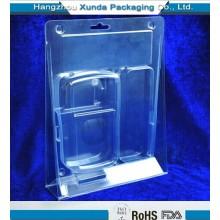 Emballage à coque en plastique à bas prix transparent