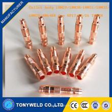 Tig accesorios de soldadura 10n30 1.0mm accesorios cuerpo de pinza
