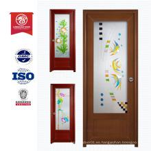 Precio barato Pvc de madera interior MDF puerta interior LX602