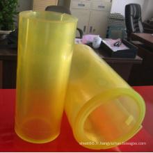 Feuille / rouleau de polyuréthane d'unité centrale de couleur jaune