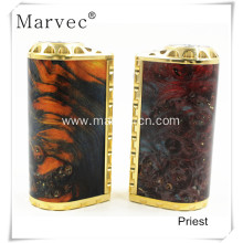 Europe style for Stabilized Wood Woody Vapes 2017 Priest vape box mod voltage control ecigs export to France Factory