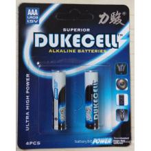 0% de pilhas secas alcalinas de mercúrio AAA