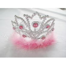 Pink Feather Mountain PP Crown Tiara