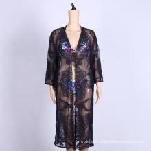 crochet anti-UV clothing women long beach dress