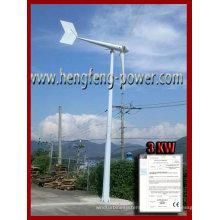 IEC 6140-2 3000W compatible wind generator avec support gratuit tour 9m
