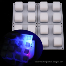 White LED Compatible Rubber Button Pad for MIDI Controller Keyboard