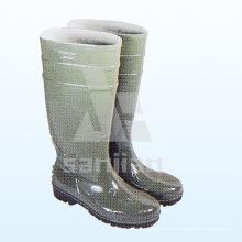 Jy-6241 Botas de lluvia transparente de plástico de señoras de moda