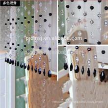 cristal cristalino vendedor caliente de la ejecución de la cortina de las gotas del color para la decoración casera Respetuoso del medio ambiente