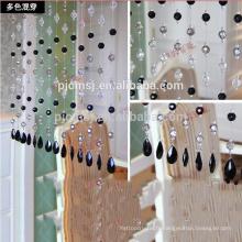 vente chaude cristal mélangé rideau de perles de couleur suspendue cristal pour la décoration de la maison qui respecte l'environnement