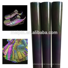 Shoes material Blue /sliver /Rainbow reflective TPU