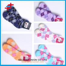 Chaussettes en polyester à microfibres pour enfants avec chaussettes Terry Towel / Microfiber Chaussettes chinoises