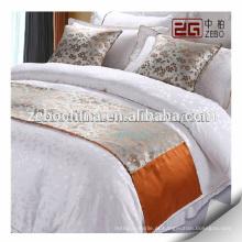 Alta Qualidade Fábrica Atacado Decoração Hotel Bed Runner e Almofada