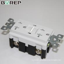 Zócalo eléctrico universal personalizado del interruptor del receptáculo de GFCI de la pared