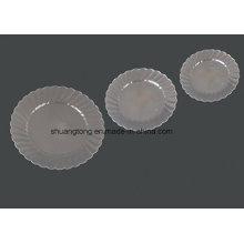 """Prata de plástico rígida redonda Plate 9 """""""