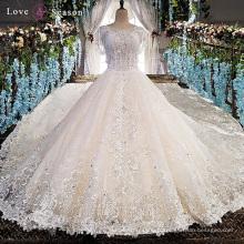 LS00151 off épaule peplum dernières appliques décentes fleurs en tissu pour femmes plus maillot de mariée robe de mariée