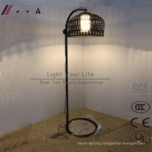 Chinese Style Bamboo Rattan Floor Light for Hotel Project