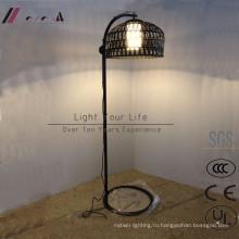 Китайский Стиль Бамбук ротанга привесной светильник для проекта гостиницы