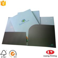 Office paper file folder with pocket