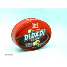 Oval candy metal tin gift can