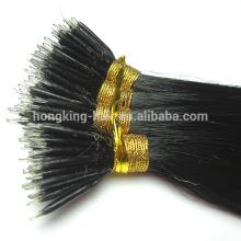 Haute qualité nano anneau extension de cheveux remy vierge extensions de cheveux humains