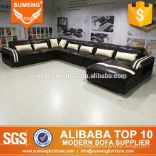 high quality elegant comfortable u shape recliner sectional sofa set