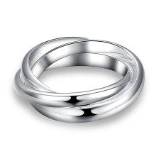 Bague simple à trois anneaux en argent