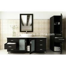 Meuble-lavabo de salle de bain en bois massif Expresso simple évier (BA-1122)