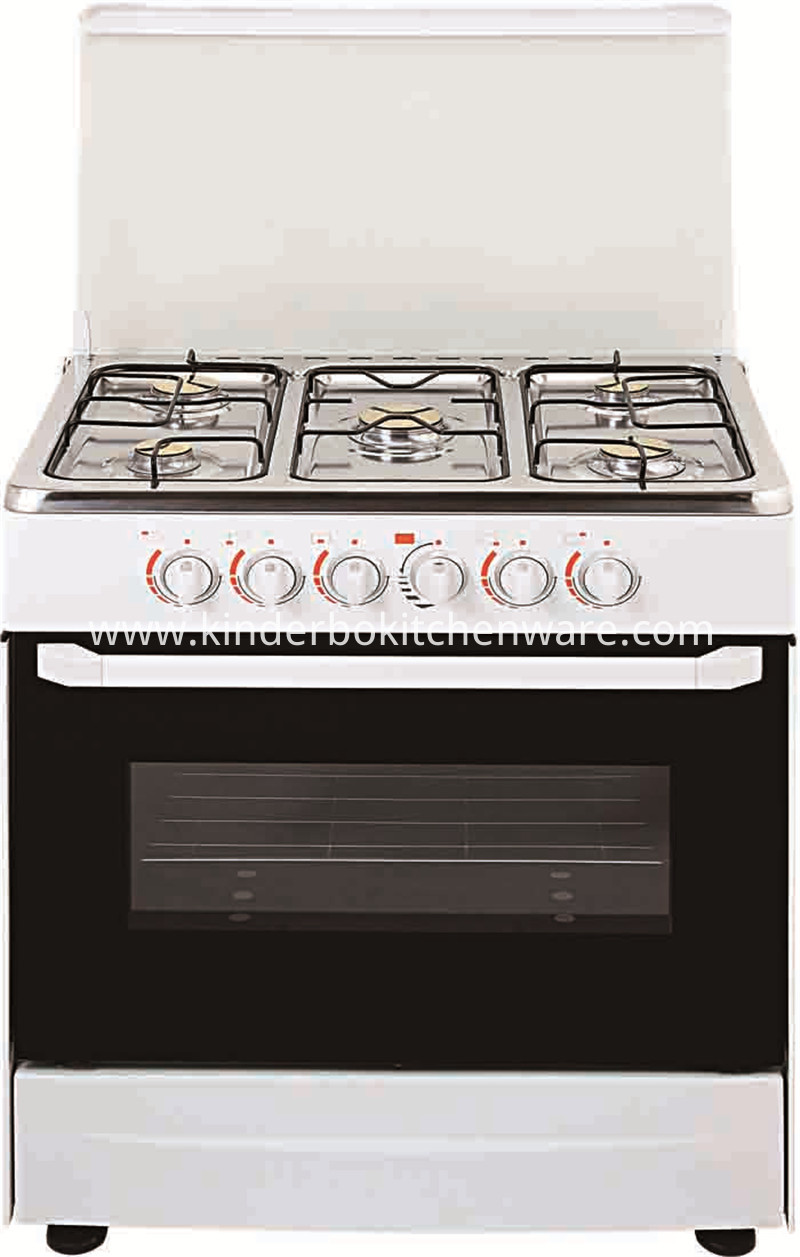 Commercial indoor stainless steel free standing 6 burner cooker gas range with gas stove oven
