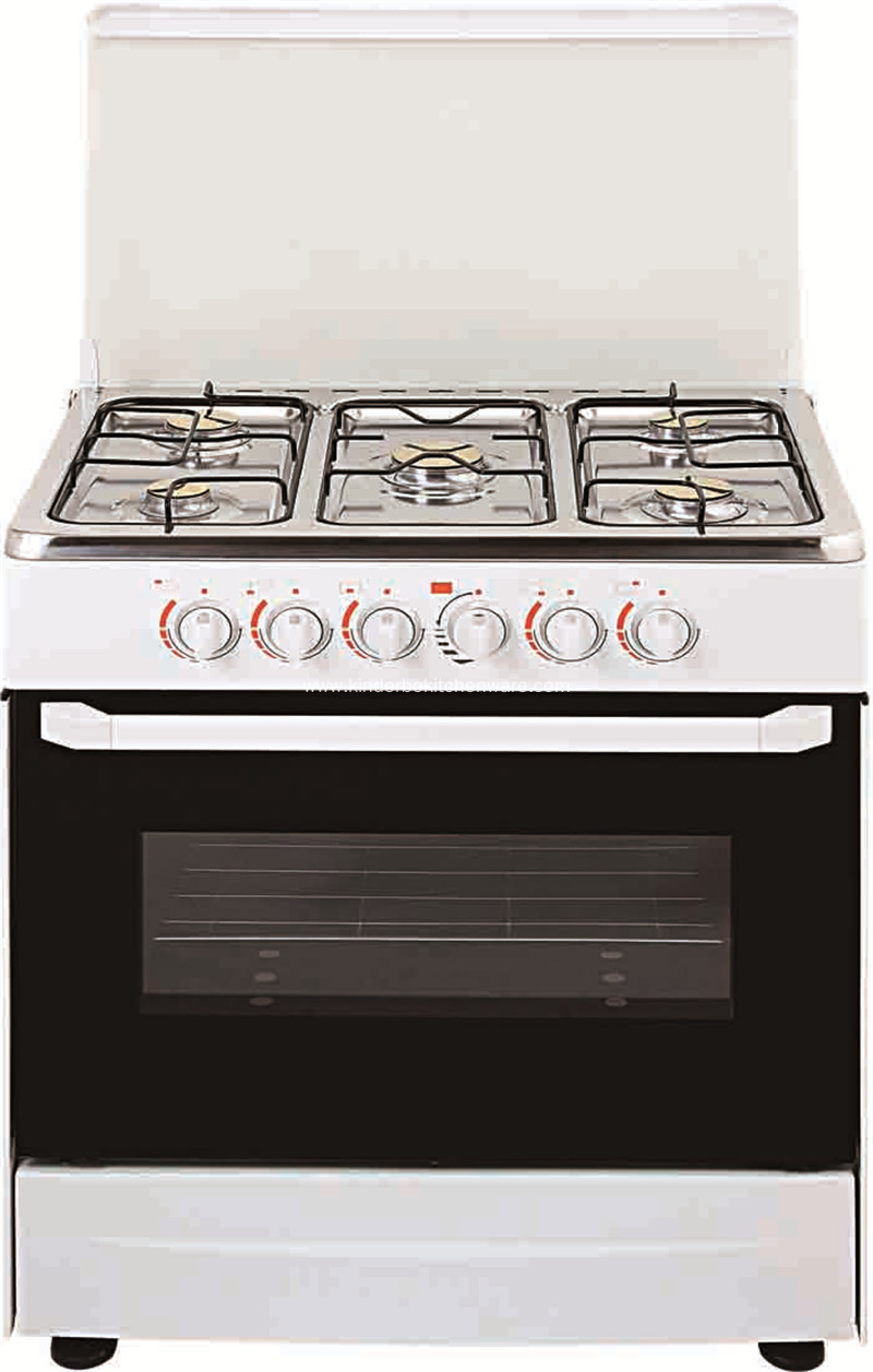 S/S freestanding 5 burner cooker gas range with oven
