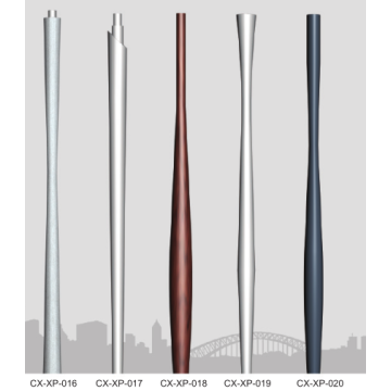 Kerucut Aluminium Alloy Spinning Lighting Pole