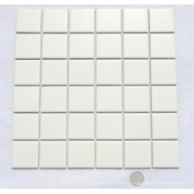 48by48 White Ceramic Mosaic