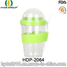 Respetuoso del medio ambiente de doble pared plástico ensalada Shaker Cup (HDP-2064)