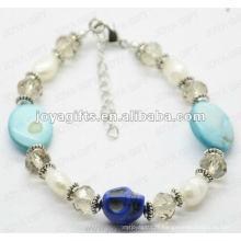 Fashion 2012 Joya Blue Skull Anklet