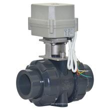 Válvula de bola accionada eléctrica de 2 vías 1 1/2 '' de PVC