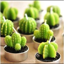 Tealight cactus candle art shape
