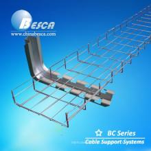 Bandeja de cabo de malha de arame elétrico com acessórios (CE, UL, NEMA, ISO, GV, IEC Verificado)