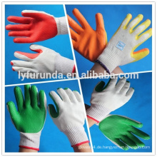 Gummi-Handschuh aus Baumwoll-Handschuh, 10-gauge gebleichter weißer Baumwollhandschuh