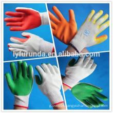 rubber palm coated cotton glove,10 gauge bleached white cotton glove
