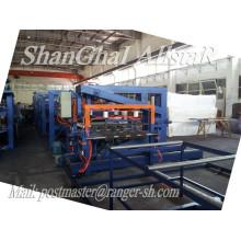 Alta calidad SP-9 Z-Look EPS y lana Mineral Sandwich Panel maquinaria/panel de emparedado que hace la máquina