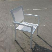 Nova cadeira de jantar branco jardim