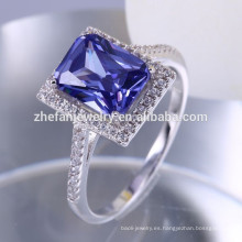 Zhefan Jewelry 925 Sterling Silver Jewelry Piedras preciosas Mujeres Anillos