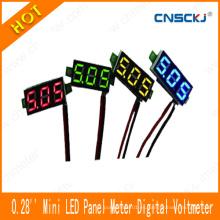 """Mini Voltímetro del montaje del panel DC 2.50-30V LED Voltametro del voltaje de Digitaces Rojo 0.28 """""""